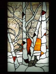 birch tree stained glass google search stainedglasspainting stained glass panels leaded glass
