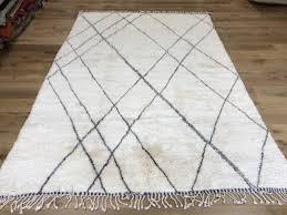 large berber rug cream and grey contemporary rug zig zag design