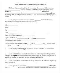 Example Of Vehicle Purchase Agreement Template Contract Used Car ...
