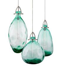modern country blown glass bottle
