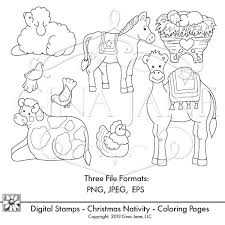 Small Picture Coloring Pages Nativity Animals Coloring Pages