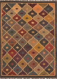 jaipur bedouin petra flat weave tribal pattern jute blue multi area rug