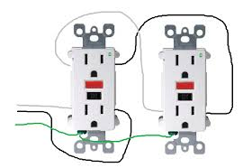 outlet wiring gfci wiring diagram schematics baudetails info electrical how do i properly wire gfci outlets in parallel