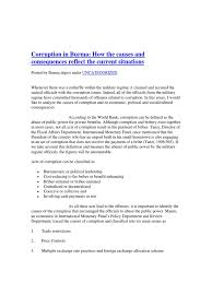 essay on politics and corruption n anti corruption movement words  myanmar corruption in burma how the causes and consequences myanmar corruption in burma how the causes democracy and political corruption essay
