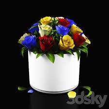3d models bouquet rose flower