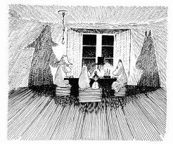 ムーミンパパ海へ行く ムーミン Moomin2019 挿絵スケッチ