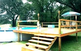 Above Ground Swimming Pool Deck Designs Simple Decorating Ideas