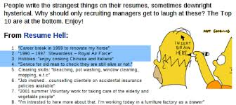funny things they say in a resume no kidding uppercaise