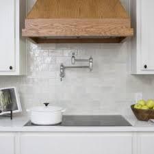 white and grey kitchen backsplash. Modren Grey Contemporary White Kitchen With Gray Subway Tile Backsplash On And Grey