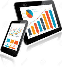 Tablet Chart Tablet Pc And Smartphone With Statistics Chart