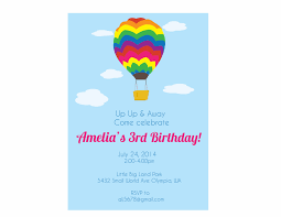 Balloon Birthday Invitations Hot Air Balloon Birthday Party Invitation Crowning Details