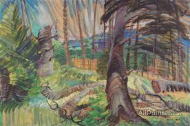 emily carr paintings for a forest clearing