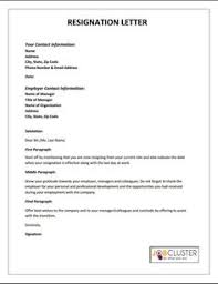 Resignation Template Citing Unacceptable Circumstances A Bad Work Environment And
