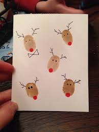 Two Ideas For Personalized Handmade Preschool Christmas Cards For Christmas Card Craft For Children