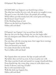 o captain my captain essay o captain my captain questions shmoop com