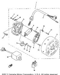 1980 yamaha qt50 oem parts babbitts yamaha partshouse c d i magneto