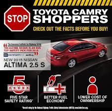 Nissan Altima Comparison Chart Compare Nissan Altima Toyota Camry Car Comparison