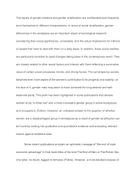 gender stratification sample paper essay gender stratification 2 the issues