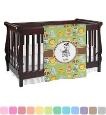 safari baby blanket personalized