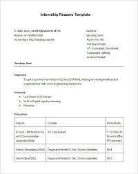 summer internship resume template internship resume template 11 free samples  examplespsd printable