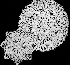 Crochet Doily Patterns Cool Pineapples Large And Small Doily Patterns Crochet Patterns