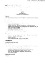 information technology resume samples best manager resumes writing resume  sample information technology management example