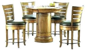 pub table sets chairs round with log and dining chair furniture pub table and chairs pub