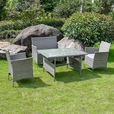 Images toulon rattan garden furniture set 4 piece