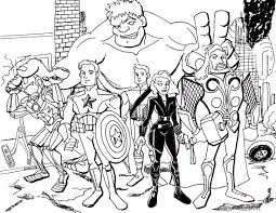 Avenger coloring pages 6