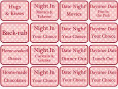 Ideas For Boyfriend Coupons Naughty Coupons Book 16 Printable Coupons For Boyfriend