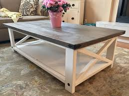 White Rustic Coffee Table Beautiful Ana White Rustic X Coffee Table Diy  Projects