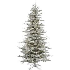 9 Slim Christmas Tree  Christmas DecorSlim Flocked Christmas Trees Artificial