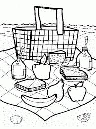 Small Picture Picnic Basket Coloring Page Fun Family Crafts