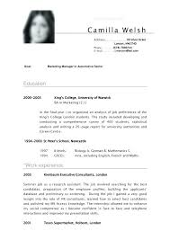 Curriculum Vitae Examples Inspiration Cv And Resume Sample Example Of A Resume Resume Example Good Resume