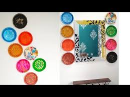 wall decor ideas with thermocol plates diy wall hanging idea with disposable plates
