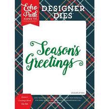 Echo Park Deck The Halls Collection Christmas Designer Dies