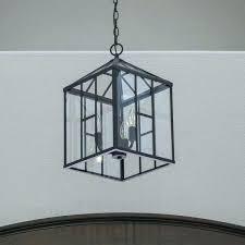 black lantern pendant light 3 clear glass iron style ceiling lamps