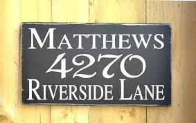 custom house number plaques wooden house number plaque outdoor address sign personalized house address name sign