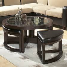 ideas coffee table with stools underneath