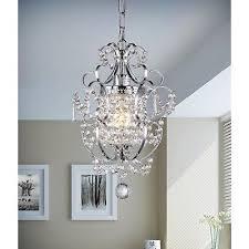 small crystal chandelier chrome mini hanging light fixture pendant lighting