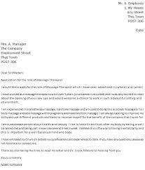 Cover Letter For Spa Therapist Massage Therapist Cover Letter