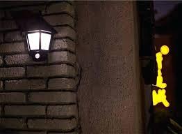 security wall lights wireless solar led light motion sensor mount spotlight for garden porch patio pir