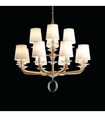 off white chandelier light chandelier in rich gold with clear optic crystal and shade hardback off off white chandelier 8 light drum shade