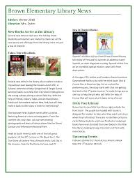 Brown Elementary Library News