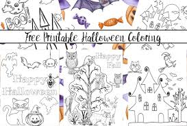 Halloween Coloring Sheets For Kids Freeable Toddlers Pages Spring To