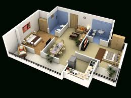 ... 4 Bedroom Luxury Apartment Floor 3D Plan 2 House Plans And ...