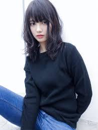 吉川 ミチオ Hair Inspo ミディアム パーマ 黒髪ヘアスタイル