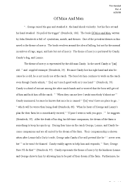 of mice and men mercy essay