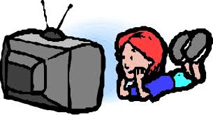 tv clipart. watching tv movie clipart