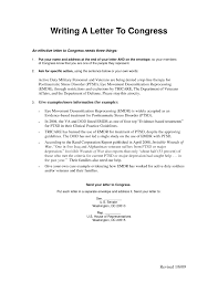 Formal Letter Format To Congressman Examples And Forms